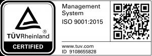 Empresa Certificada TÜV | ID 9105055068